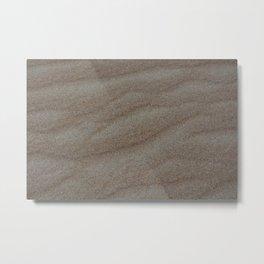 Soft Sand Metal Print