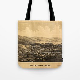 Aerial View of Blackinton, Massachusetts (1889) Tote Bag