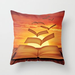 Escaped Thoughts Throw Pillow