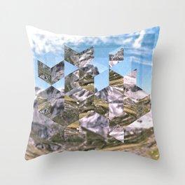 Mountain Fragments Throw Pillow