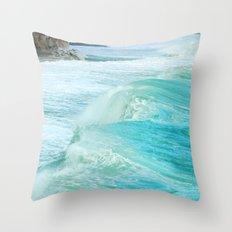 Big waves. Vintage Throw Pillow