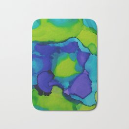 Purple and green dreams Bath Mat