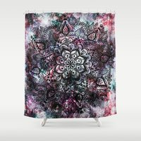 Intergalactic Mandala Shower Curtain