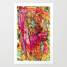 Snaggled Art Print