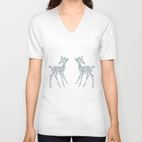 twins V-neck T-shirts featuring Twins by Lise Goossens