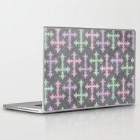 pastel goth Laptop & iPad Skins featuring Pastel Goth | Grunge Grey by Glitterati Grunge