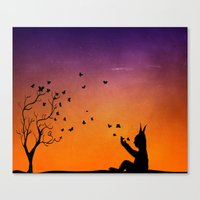 dream catcher Canvas Prints featuring Dream Catcher. by Nancy Woland