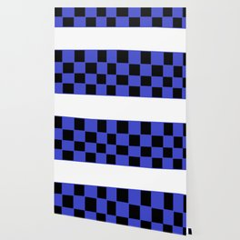 Black and blue chess board Wallpaper