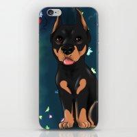 doberman iPhone & iPod Skins featuring Chibi doberman by Furiarossa