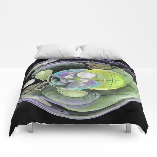 Froggies in a water bubble Comforters