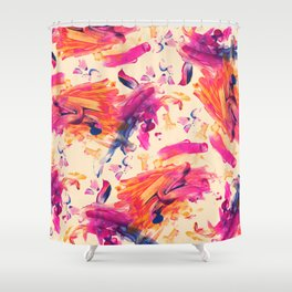 Rowen Finger Painting Shower Curtain