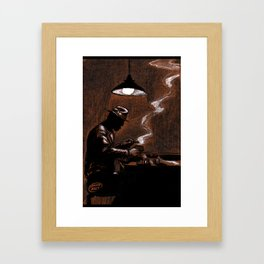 Noir Bar Framed Art Print