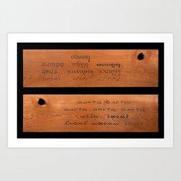 Indonesian Traditional Scripts Art Print