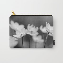 Anemone hepatica II - BW Carry-All Pouch