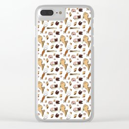 Along the Drift Line Clear iPhone Case