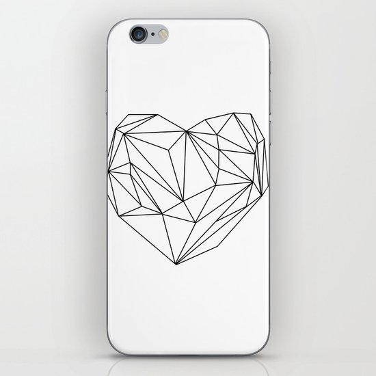 Heart Graphic (black on white) iPhone & iPod Skin