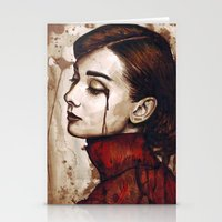 audrey Stationery Cards featuring Audrey  by Olechka