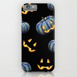 Halloween Pumpkin Jack-O-Lanterns Elegant Pattern iPhone Case