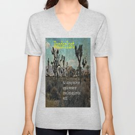 Wanderlust In The Wild Travel Quote Unisex V-Neck