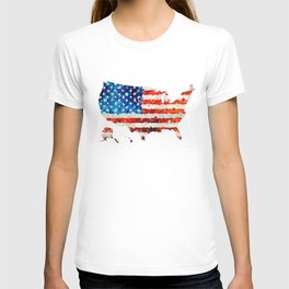 Map of The United States Of America 23 - Sharon Cummings T-shirt