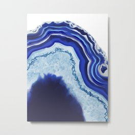 Blue Agate Metal Print