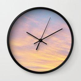 Blue Rose Yellow Sunrise Wall Clock