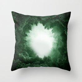 Forest Portal Throw Pillow