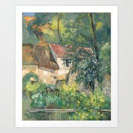 House of Pere Lacroix (1873) by Paul Cézanne. Art Print