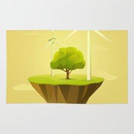 Green Power Rug