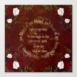 Outlander Wedding Vows Canvas Print
