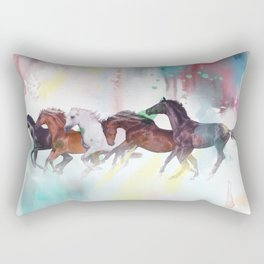 wild horse Rectangular Pillow