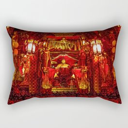 The Red Room of Emperor Huángsè Rectangular Pillow