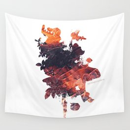 Mask Flow Fire Wall Tapestry