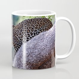 Leopard on the hop - Africa wildlife Coffee Mug