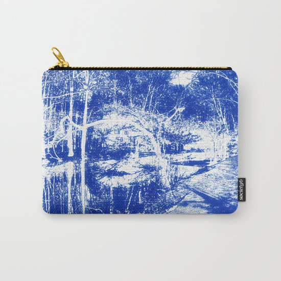 Looking in the water mirror-blue Carry-All Pouch