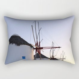Famous Mykonos Windmills in Greece Rectangular Pillow