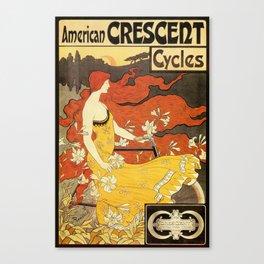 Vintage American art nouveau Bicycles ad Canvas Print