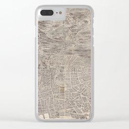 Vintage Map of Yonkers NY (1899) Clear iPhone Case