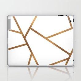 White and Gold Fragments - Geometric Design Laptop & iPad Skin