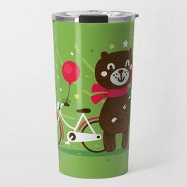 Sweet Bear with Giant Lollipop Travel Mug