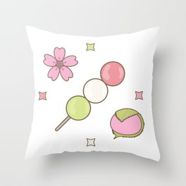 Hanami Nummies | Figure 1 Throw Pillow