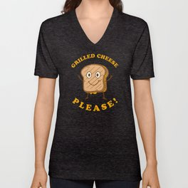 Grilled Cheese Please Unisex V-Neck