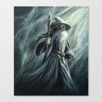 gandalf Canvas Prints featuring Gandalf by Svenja Gosen