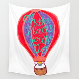 """Oh the Places You'll Go"" – Balloon plus Lettering Wall Tapestry"