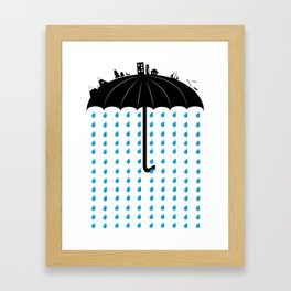 You can't hide, when it rains Framed Art Print