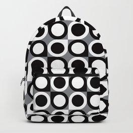 Geometric Pattern 193 (black gray circles) Backpack