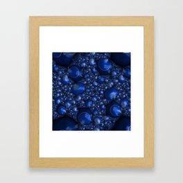 Blueberry Lather Framed Art Print