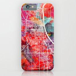 Leavenworth map Kansas KS 2 iPhone Case