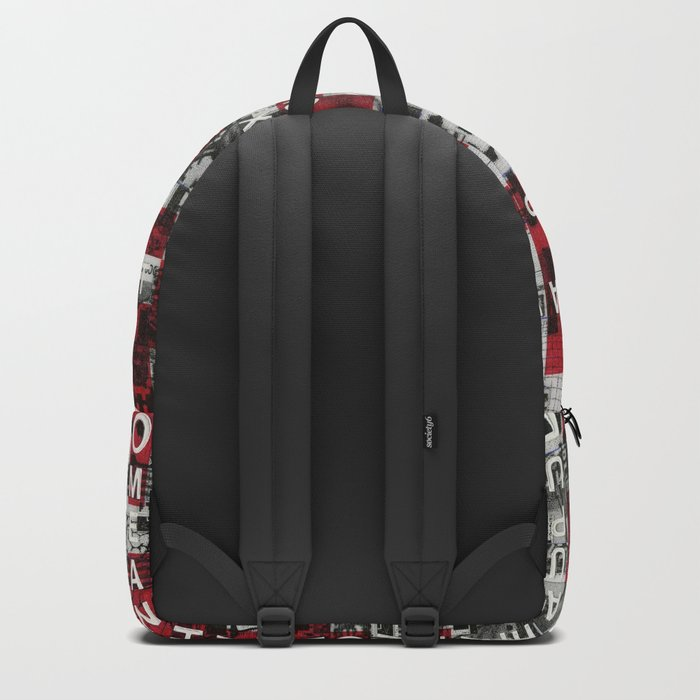 Paradox Network (P/D3 Glitch Collage Studies) Backpack