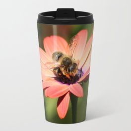 Bee on Osteospermum Travel Mug
